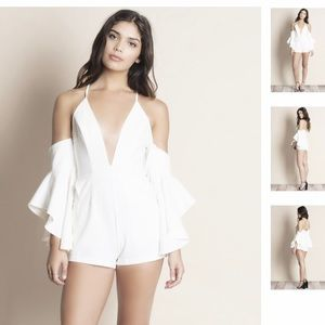 NWT Bare Anthology Off the Shoulder Romper